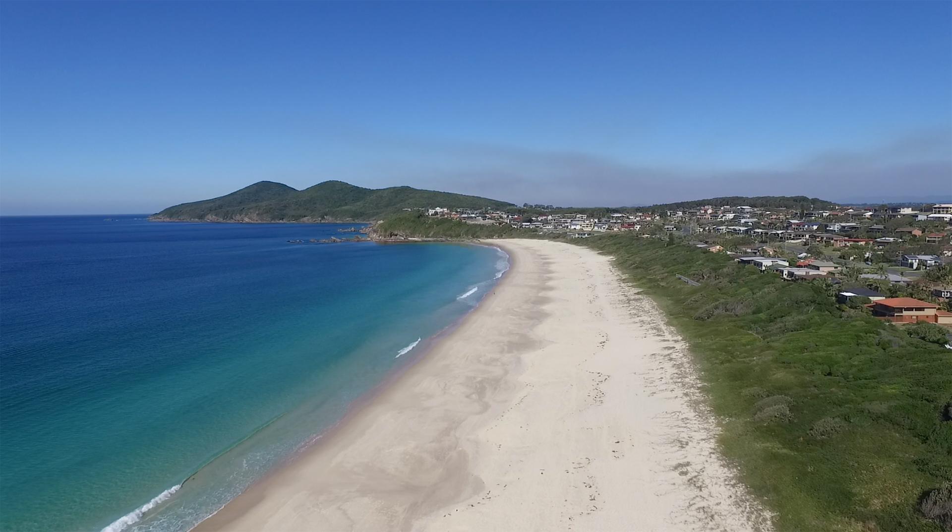 One Mile Beach Drone